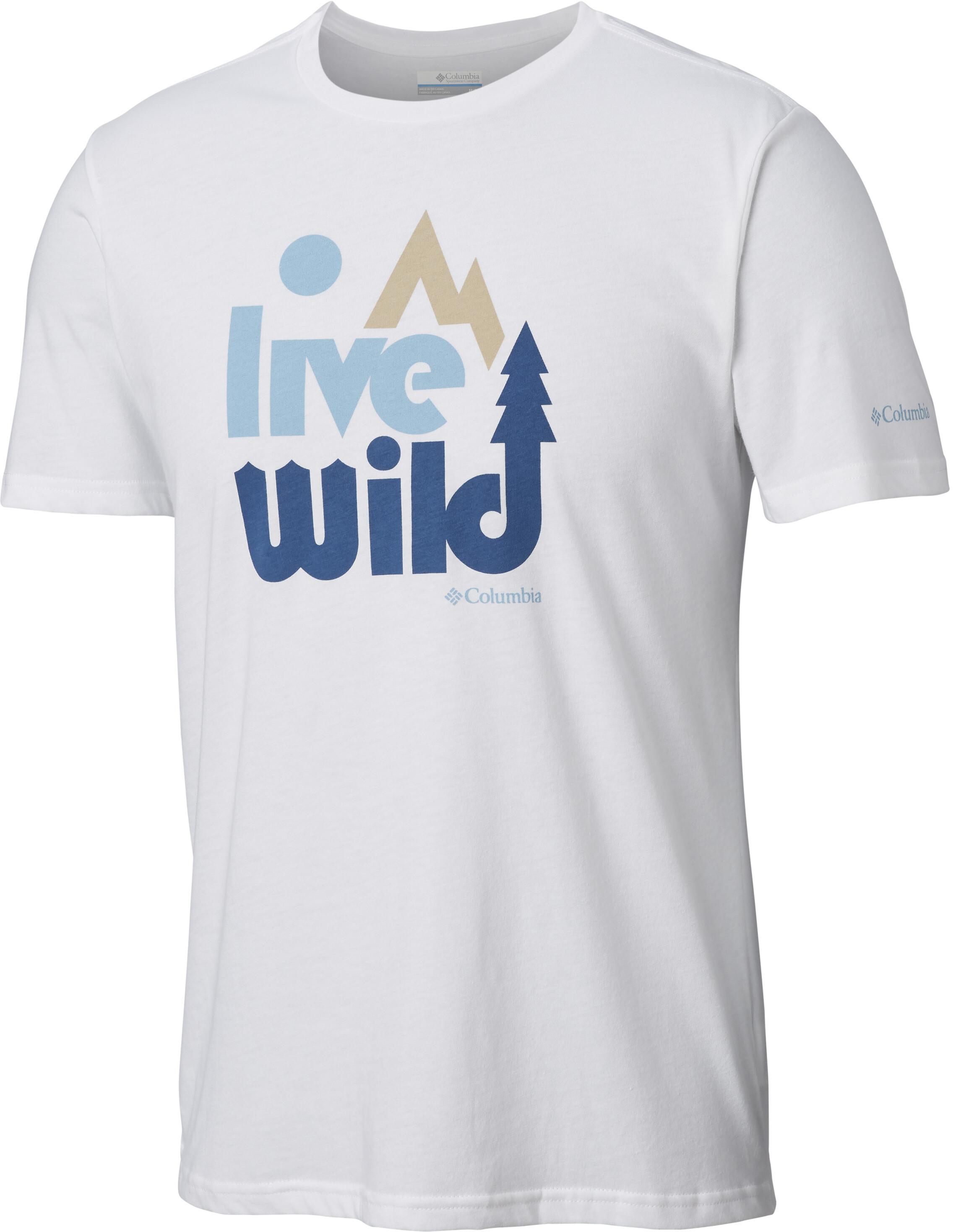 fec25dd040bc1 Columbia Terra Vale - Camiseta manga corta Hombre - blanco